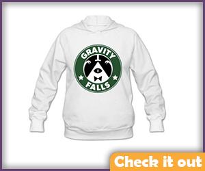 White Gravity Falls Sweatshirt.