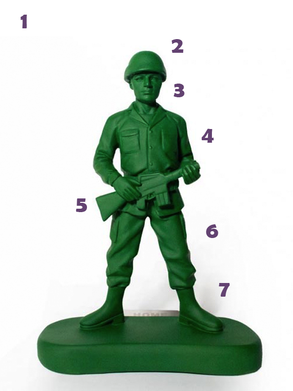 Toy Soldier Costume Parts.