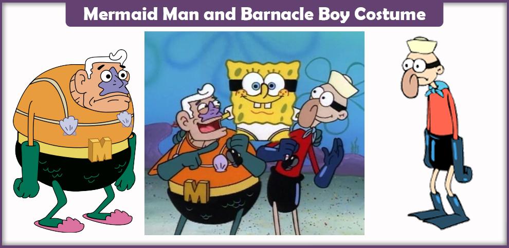 Mermaid Man and Barnacle Boy Costume