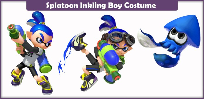 Splatoon Inkling Boy Costume.