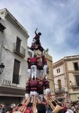 Castellers - Menschentürme in Sitges