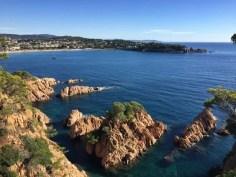 Blick zurück auf die Bucht von S'Agaró
