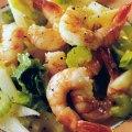 Salată caldă de creveți