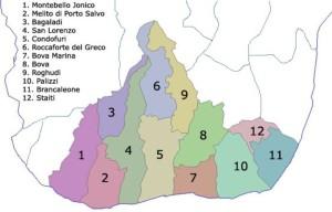 area grecanica elenco comuni in provincia di Reggio Calabria