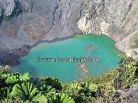Irazú Volcano National Park principal crater lagoon in Cartago, Costa Rica