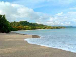 One of hundreds of Costa Rica's beautiful sandy beaches.  This one, located in the southern Nicoya Peninsula.
