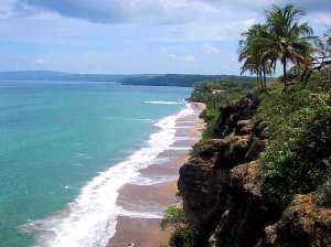 One of the beautiful beaches of Tambor, in the southern Nicoya Peninsula of Costa Rica