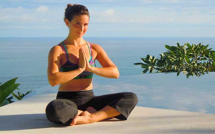 Yoga teacher Destiny White at Anamaya yoga retreat center in Montezuma, Costa Rica