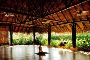 Woman-practicing-Yoga-at-Blue Spirit