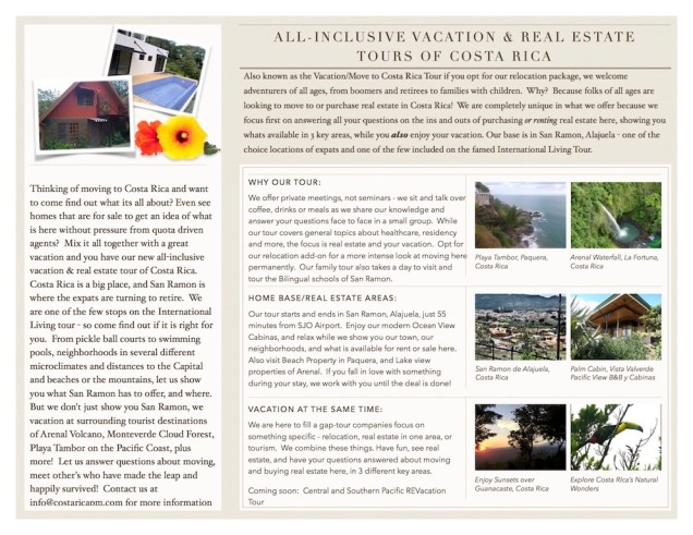 Real Estate and Vacation Tours of Costa Rica