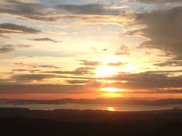 Sunset from San Ramon Costa Rica house for sale
