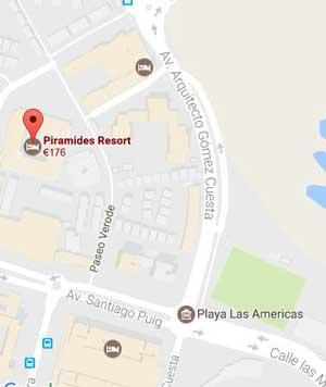 Piramides Resort Mapa
