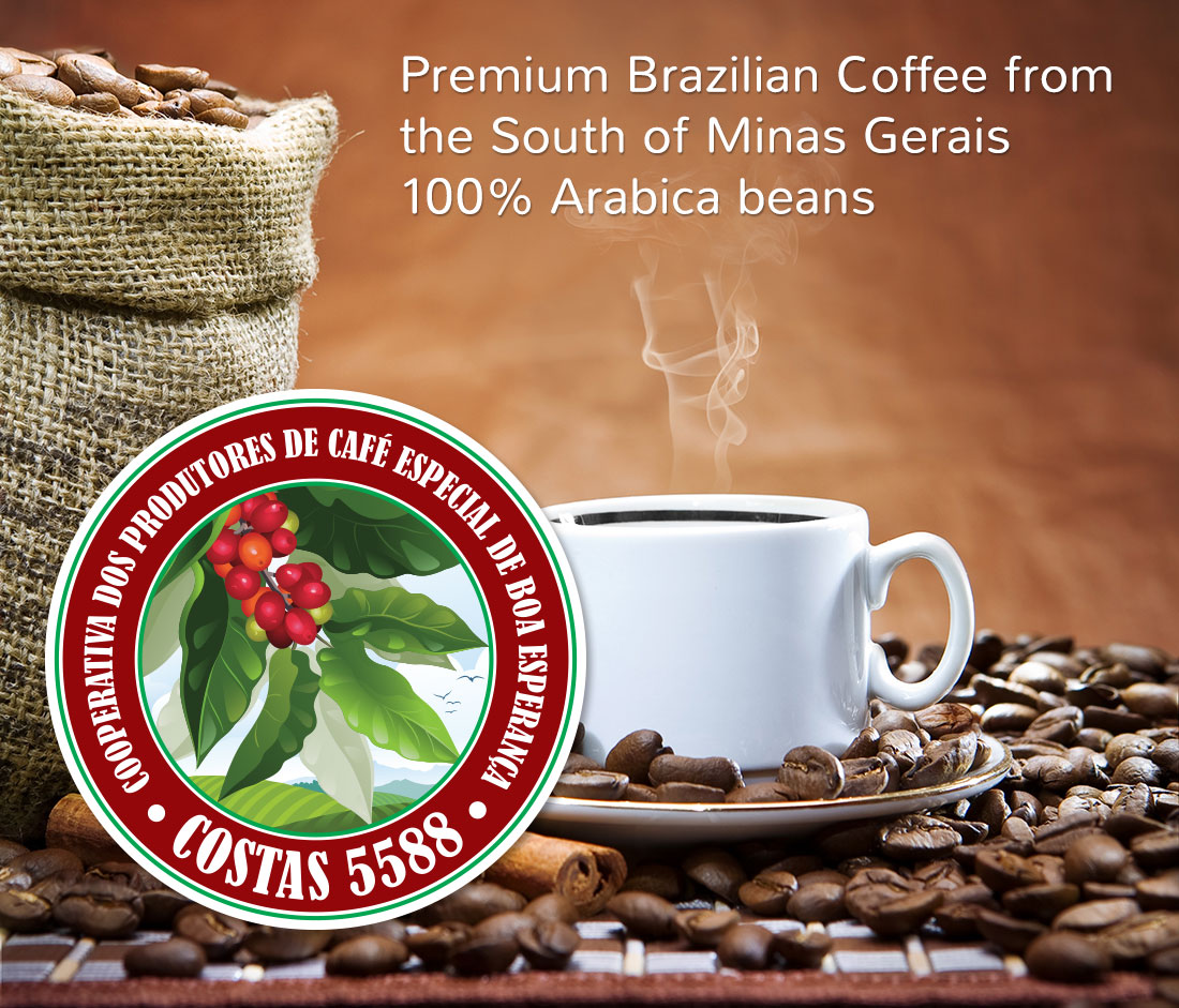 Premium Brazilian Coffee from the South of Minas Gerais 100% Arabica beans