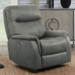 Barcalounger Esme Grey Fabric Rocker Power Recliner With Power Headrest Costco Uk