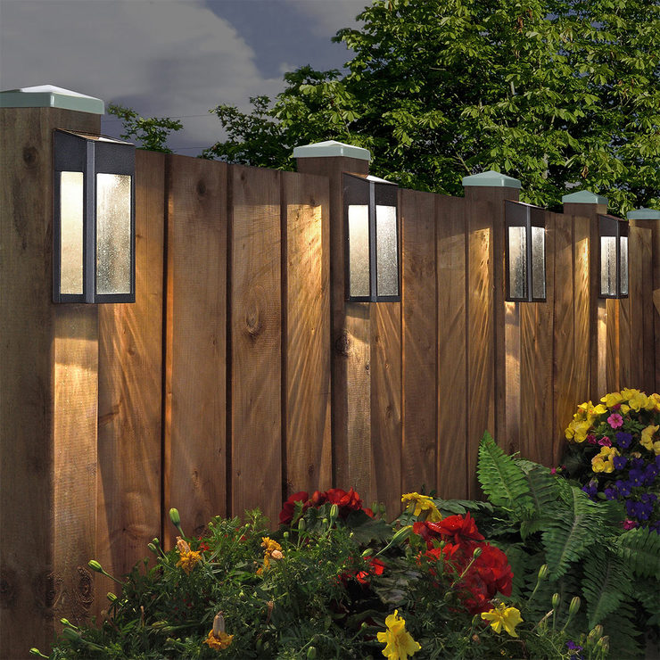 sterno home paradise solar led post lights 4 pack costco uk