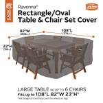 Classic Accessories Ravenna Large Rectangular Oval Patio Table And Chair Set Cover Costco Uk