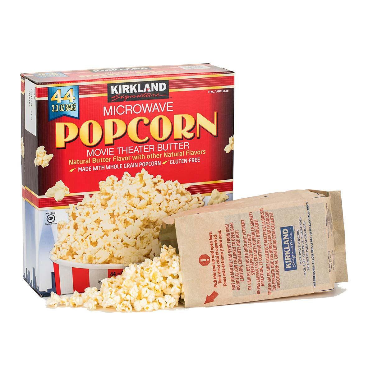 kirkland signature microwave popcorn 44 x 93g costco uk