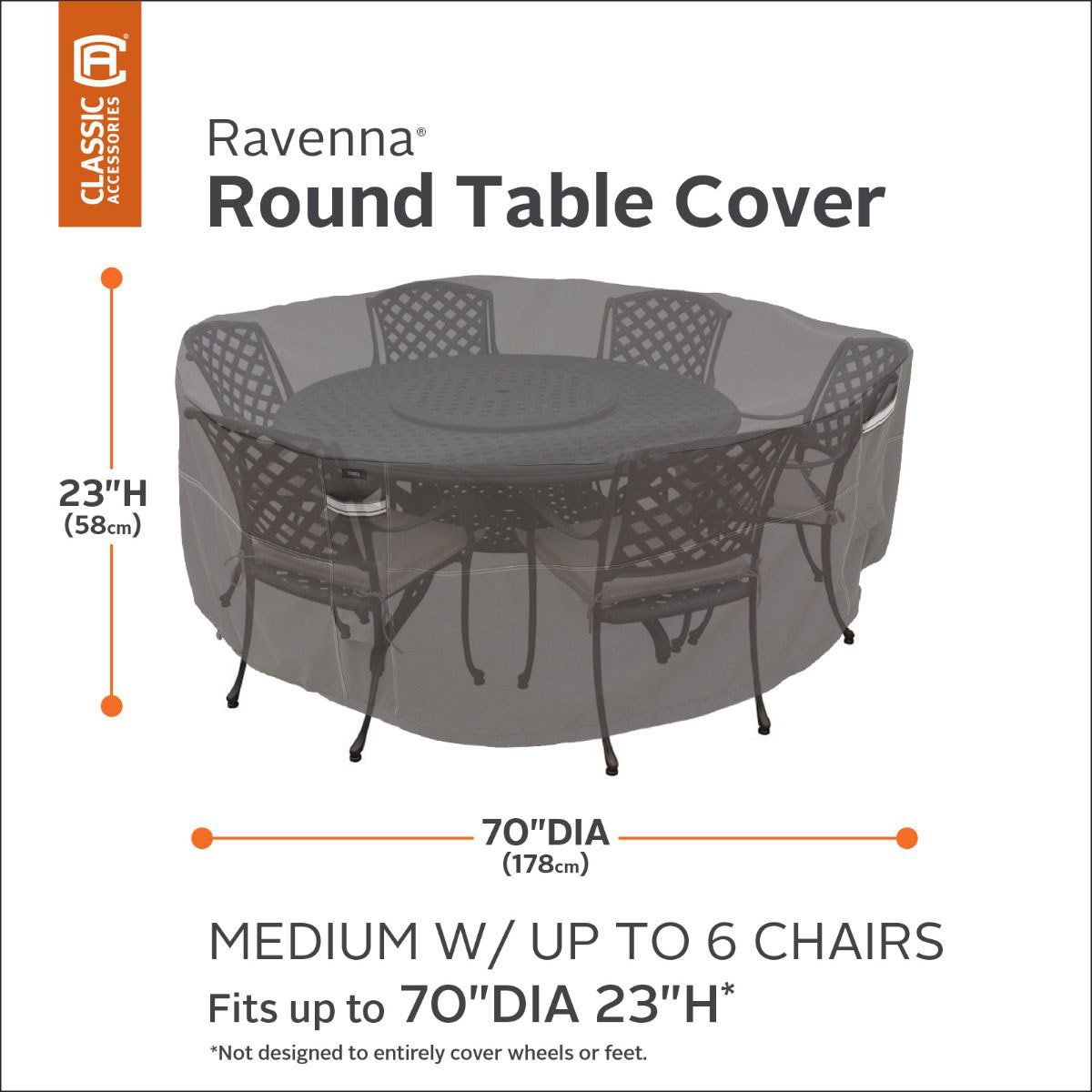 classic accessories ravenna medium round patio table and chair set cover costco uk