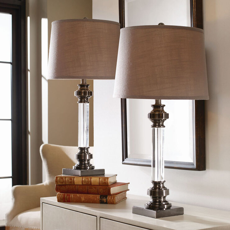 uttermost sam crystal table lamp 2 pack costco uk