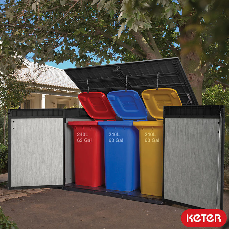 keter grande store 6ft 3 x 3ft 7 1 9 x 1 1 m horizontal 2 020 litre storage shed costco uk