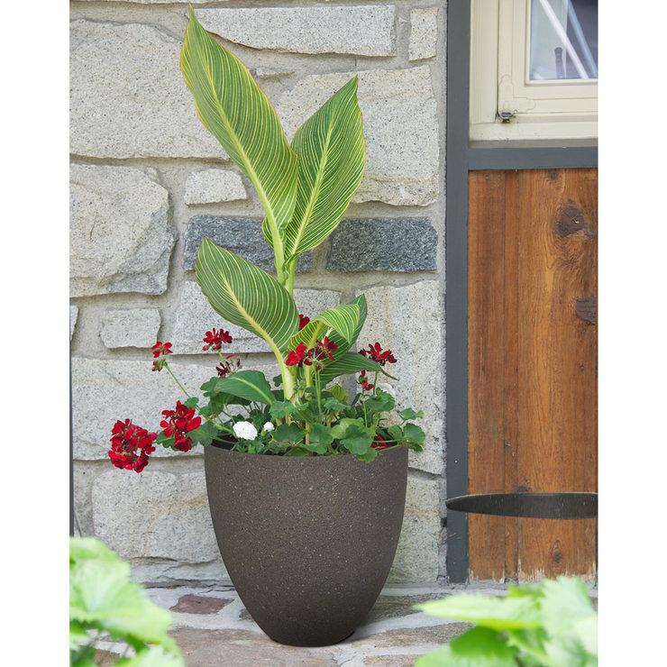 southern patio 38cm 15 resin egg planter grey costco uk