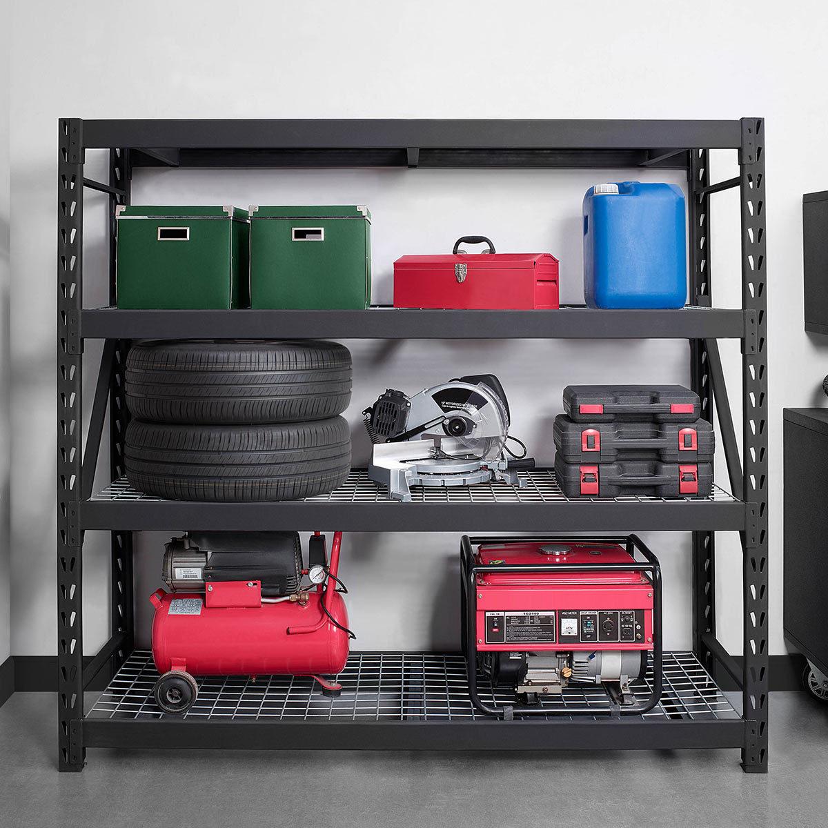 Whalen 4 Tier 77 195cm Industrial Storage Rack Costco Uk