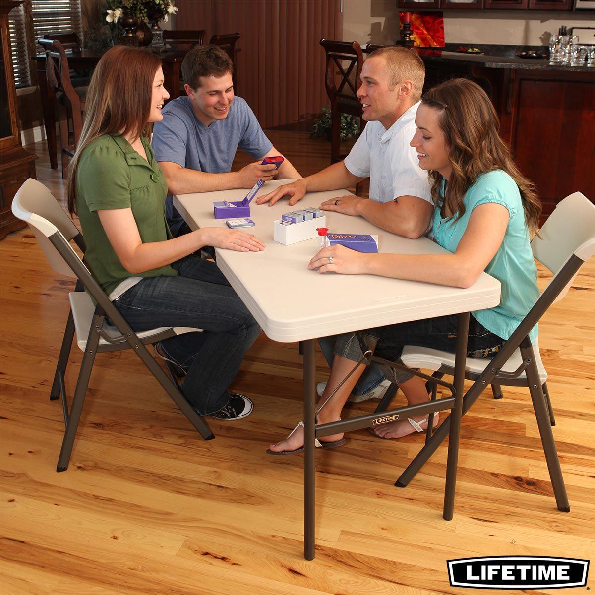 lifetime 4ft commercial grade folding table costco uk