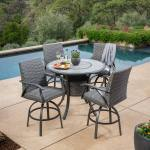 Sunvilla Indigo 5 Piece Woven Bar Height Dining Patio Set Cover Costco Uk