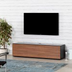 Sonorous St160 Tv Cabinet For Tvs Up To 70 Walnut Costco Uk