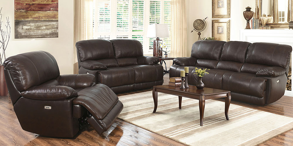 Arleta   Costco Arleta 3 piece Top Grain Leather Power Reclining Living Room Set