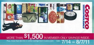 July 2011 Costco coupon book cover