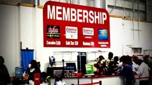 Costco membership sign