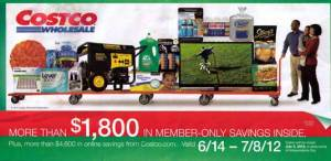June 2012 Costco Coupon Book Cover