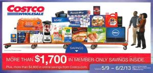 May 2013 Costco coupon book cover page
