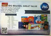 Proctor and Gamble gift card offer