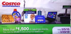 March 2015 Costco coupon book cover