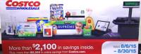 August 2015 Costco Coupon Book Cover