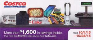 October 2015 Costco Coupon Book Cover