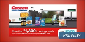 December 2015 Costco Coupon Book Cover