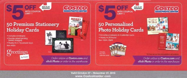 november 2016 costco coupon book page 17 - Costco Holiday Cards