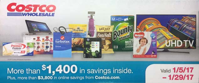 January 2017 Costco Coupon Book Cover