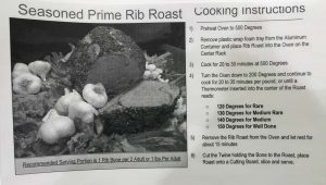 Prime Rib Cooking Instructions