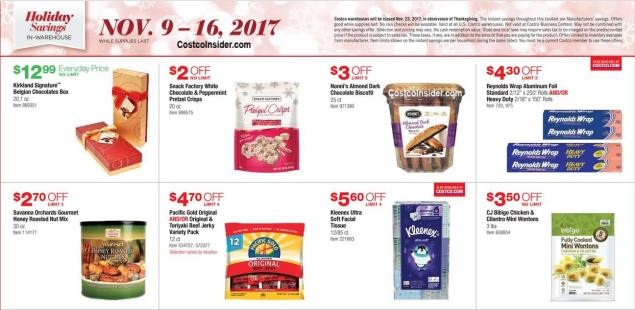 Costco 2017 Black Friday Ad Scan Page 1
