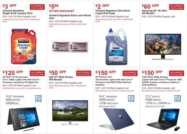 Costco June 2018 Hot Buys Page 1