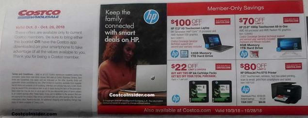 Costco October 2018 Coupon Book Page 1