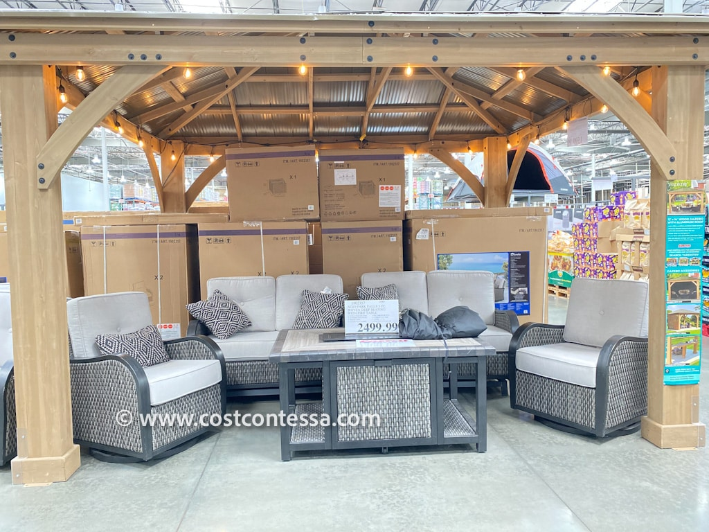 5 piece costco patio furniture fire pit