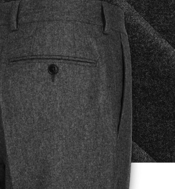 pantalon gris anthracite flanelle pantalon sur mesure