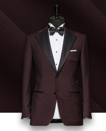 smoking Bordeaux tuxedo sur mesure paris, costume privé