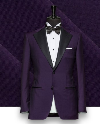 Smoking Violet Purple tuxedo sur mesure paris, costume privé
