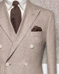 blazer-beige-flanelle-costume sur mesure-zoom